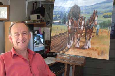 Ron Gribble in his studio
